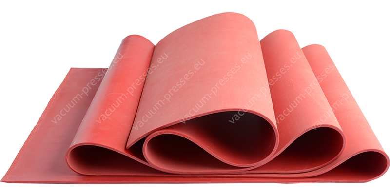 Natural rubber membranes 42 ShA red